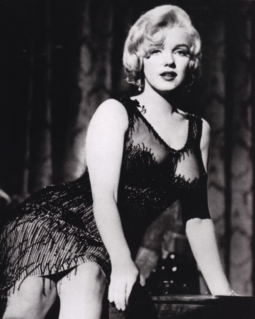 Marilyn Monroe, Some Like it Hot, Black flapper dress