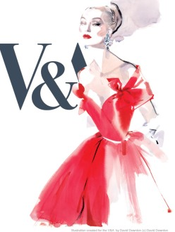 david downton, fashion illustration, V&A