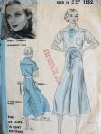 vintage dress pattern, Carole Lombard