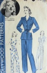 Vintage dress pattern, Betty Grable