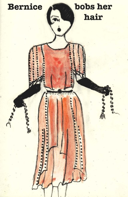 Bernice Bobs her Hair, fashion illustration
