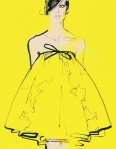 David Downton, yellow fashion illustration