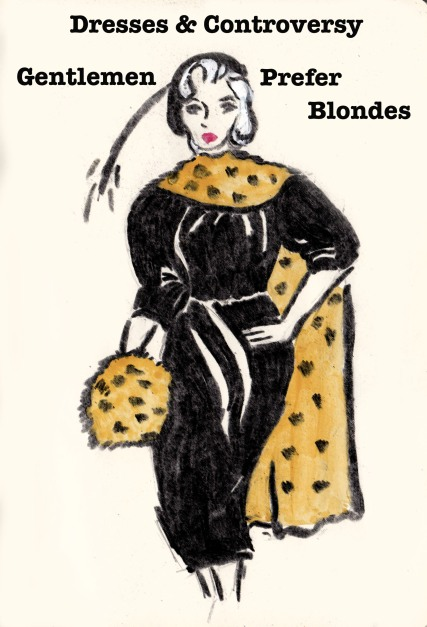 Fashion Illustration, Marilyn Monroe, Carolyn Everitt, Gentlemen Prefer Blondes