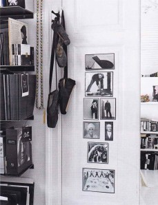 Elle Decoration, black and white interiors, monochrome, black ballet shoes