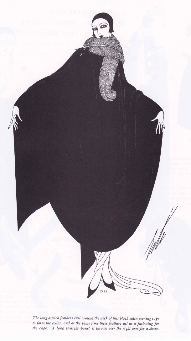 Erte Fashion Design, Fashion Illustration, 1920s, Harpers Bazar