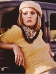 Faye Dunaway, Bonnie and Clyde, yellow jumper
