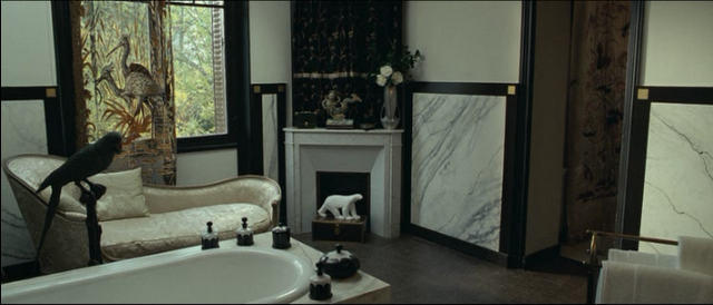 Igor and Coco, bathroom, black and white interiors, monochrome