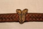 1930s belt, Gold Butterfly, Grace Kelly, Red Dress