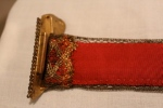 1930s belt, gold butterfly, Grace Kelly, Red Dress