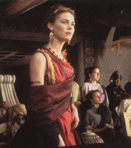 Lucilla, Gladiator, red dress