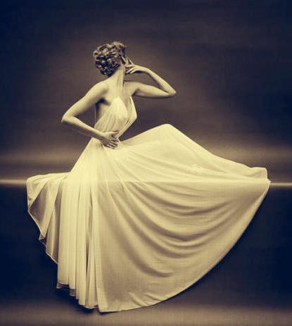 Carmen Dell'Orefice, Mark Shaw, Vanity Fair Lingerie