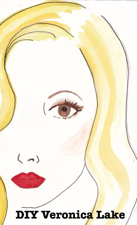 Veronica Lake makeup, Carolyn Everitt, Illustration
