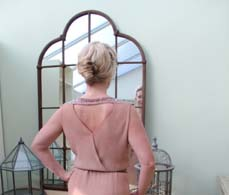 Nude Vintage 1930s Dress, Back