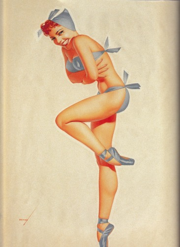 Pin up wearing ballet shoes, George Petty