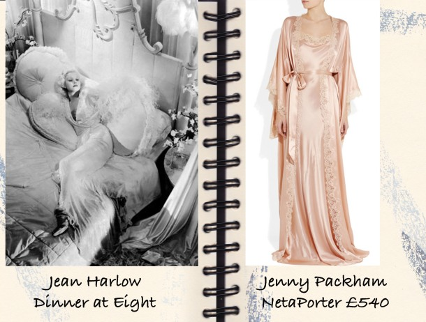 Jean Harlow, Dinner at Eight, Jenny Packham, NIghtgown, Netaporter