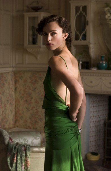 Image result for keira knightley green dress famous shot