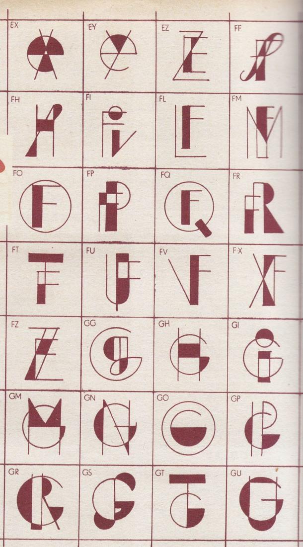 1930s Monograms, Initials