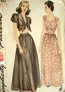 So Vintage Patterns, Midriff top, pyjamas