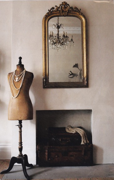 Nude colour scheme, Vintage Interiors, Tailors dummy