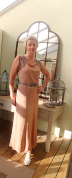 Nude Vintage 1930s Dress, Front