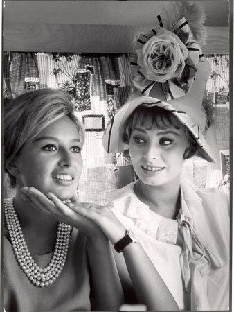 Sophia Loren and Sister