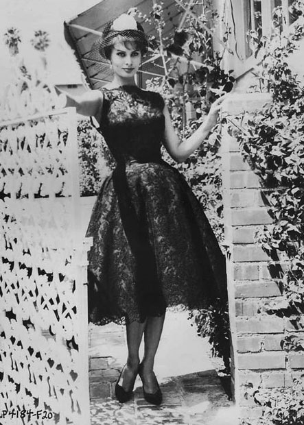 Sophia Loren, Lace Dress, Dolce & Gabanna