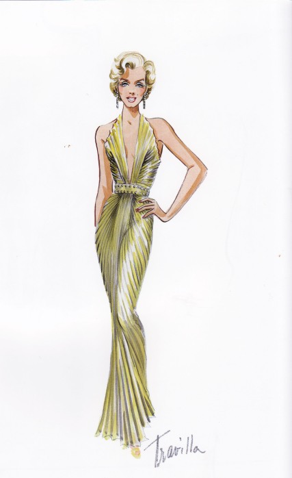 William Travilla, Marilyn Monroe, Gold Dress, Gentlemen prefer Blondes