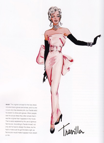 William Travilla, Pink Dress, Marilyn Monroe, Gentlemen Prefer Blondes, Diamonds are a Girl's Best Friend