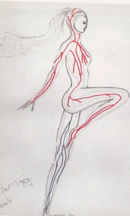All that Jazz, Fashion Illustration, Leotard with Veins, Albert Wolsky