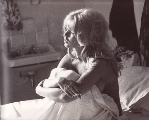 Brigitte Bardot, in bed, hair