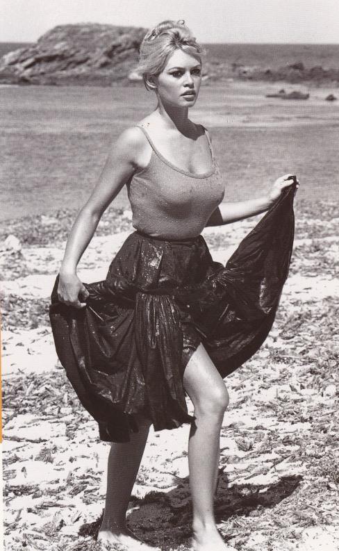Brigitte Bardot, body, sea, beach