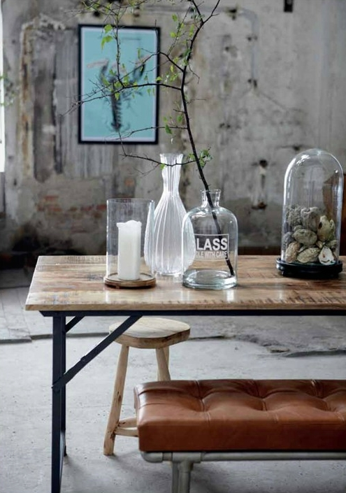 Bell jar, glass jars, industrial style