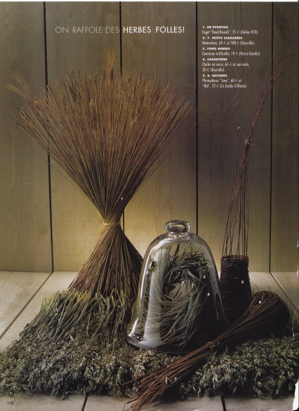 Bell Jar, wheat and herbs