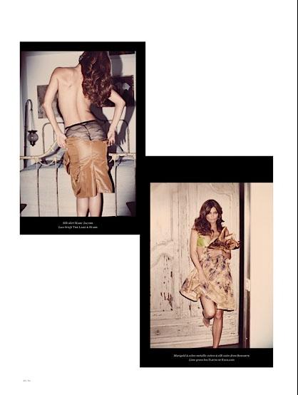 Helena Christensen, leather skirt