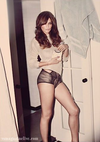 Helena Christensen, black knickers