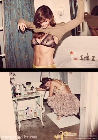 Helena Christensen, black bra