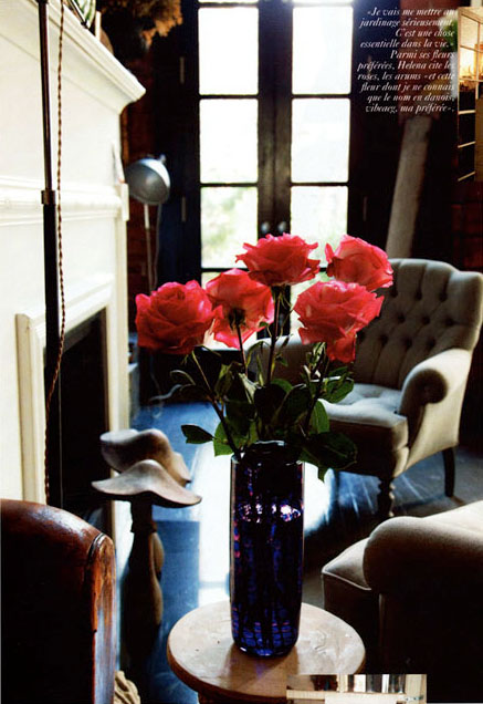 Helena Christensen, sitting room, the selby