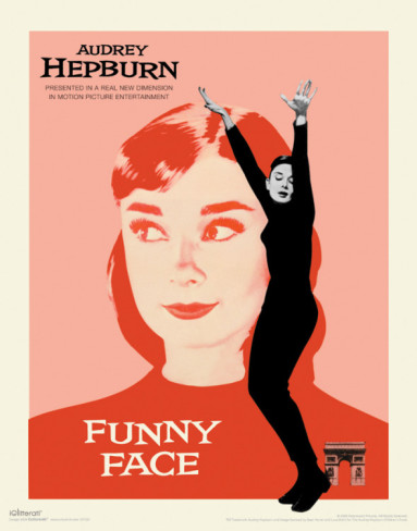 Audrey Hepburn, Funny Face, Pink and Red