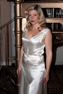 Lynn Bracken, Veronica Lake, White dress, 1940s, Carolyn Everitt
