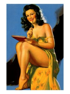 Pin Up Girl Poster, Karen Harrison, All Posters