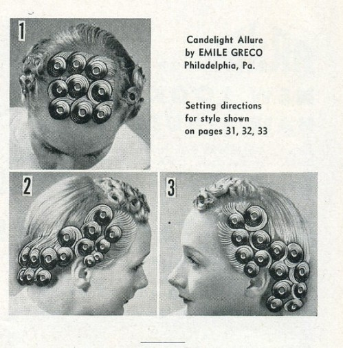 Pin Curl demonstration