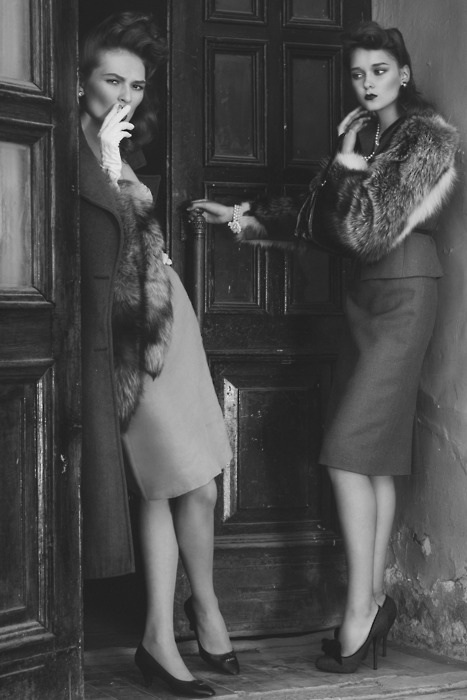 Ulyana Sergeenko, photograph, forties ladies