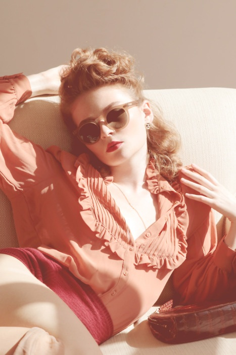 Ulyana Sergeenko photgraph, forties sunglasses