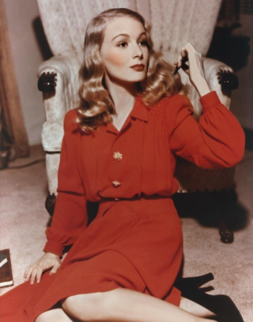 Veronica Lake in colour
