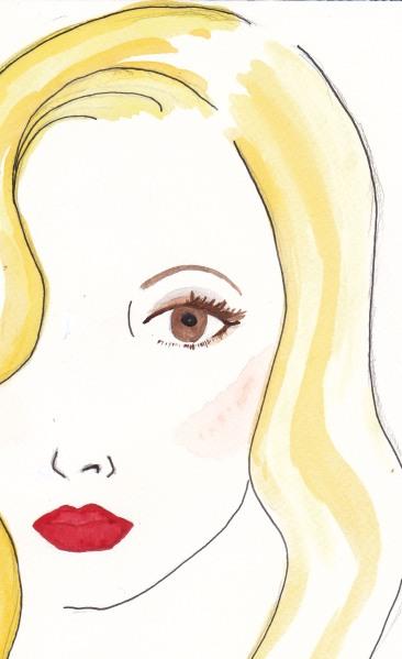 Veronca Lake, makeup, 1940s makeup