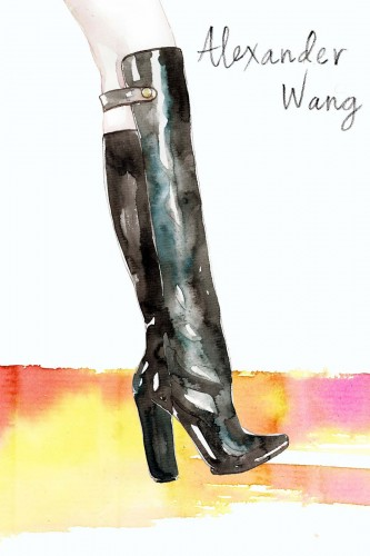 Samantha Hahn, Alexander Wang boots