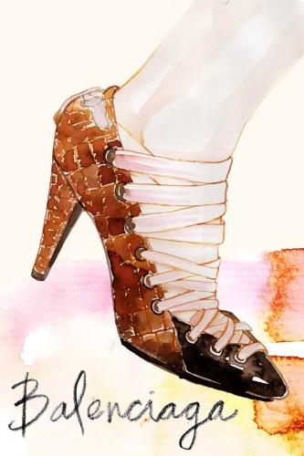 Samantha Hahn, Balenciaga Shoes