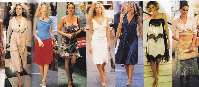 Carrie Bradshaw vintage fashion