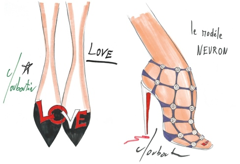 Christian Louboutin, Shoe illustrations