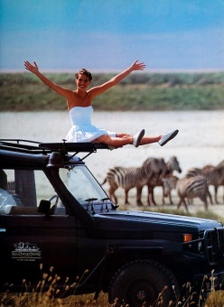 Christy Turlington, Vogue Jan 1992, Arthur Elgort, Africa